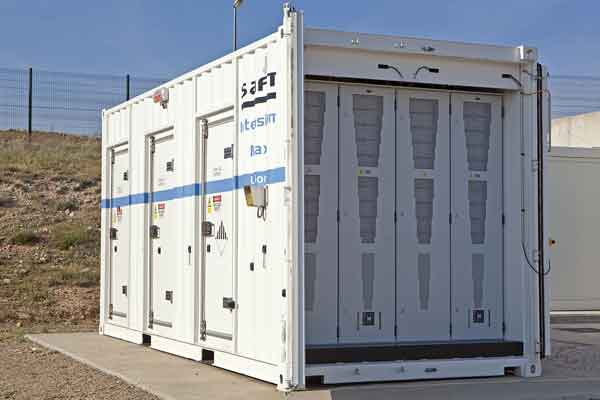 Saft 1 MW Li-ion storage module in northern Spain